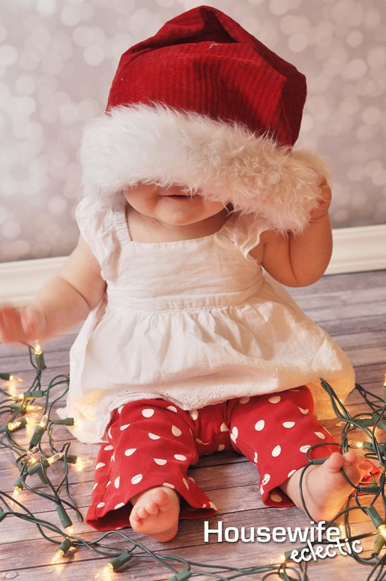Ideias fotos bebe natal 1