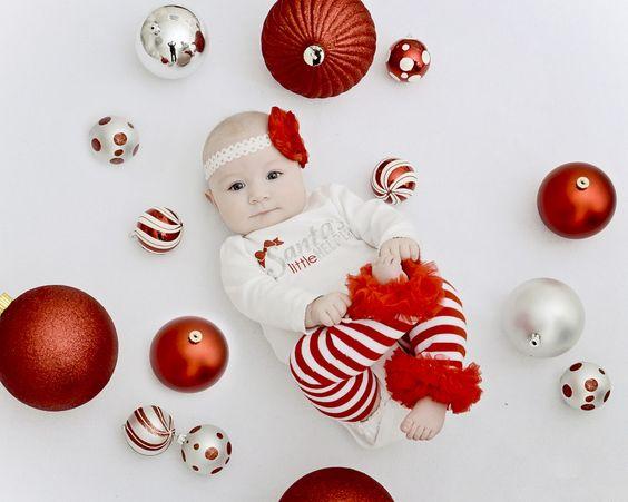 Ideias fotos bebe natal 7