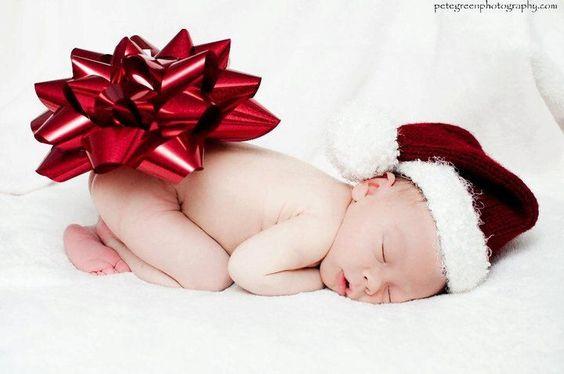 Ideias fotos bebe natal 8