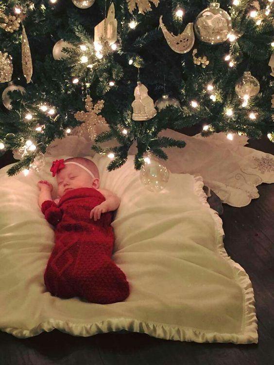 Ideias fotos bebe natal 9