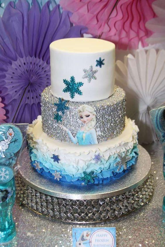 bolo decorado festa frozen