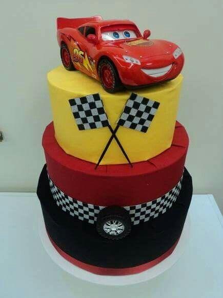 bolo festa menino cars