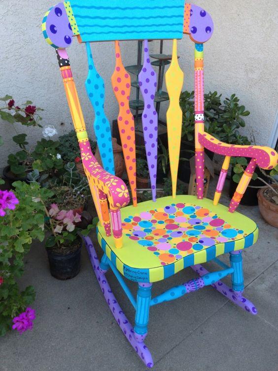 cadeira baloico pintada
