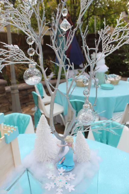 centro mesa festa frozen