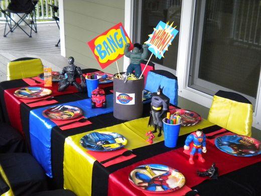 decoraçao festa super herois