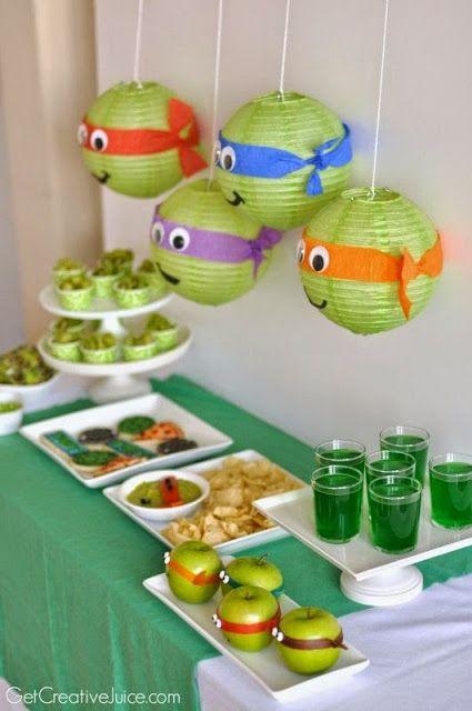 decoraçao festa tartarugas ninja