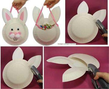diy ideias pascoa criancas cesto coelho
