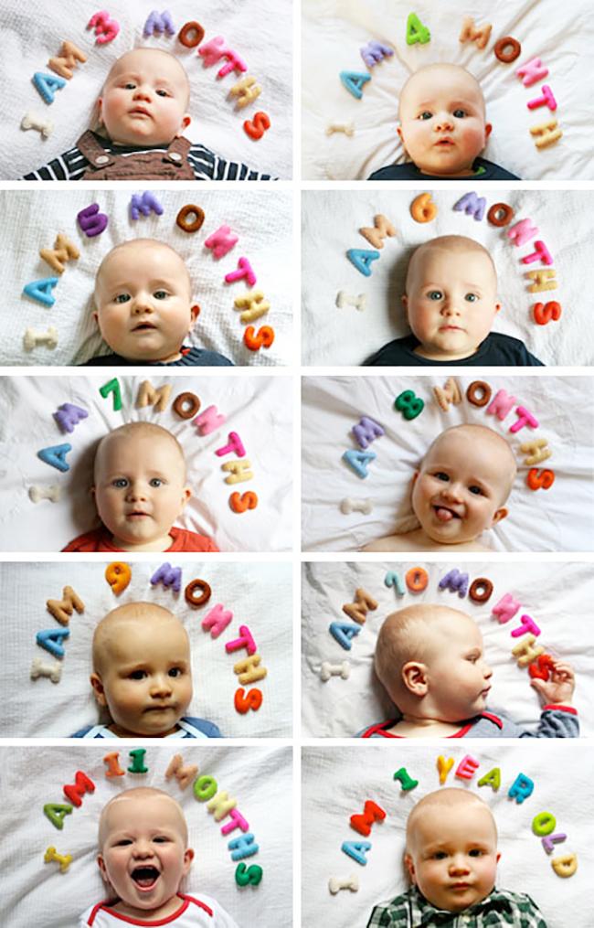fotograr o primeiro ano bebe