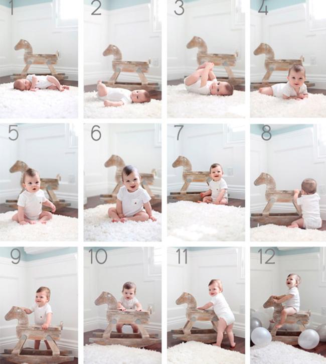fotos bebe durante 1 ano