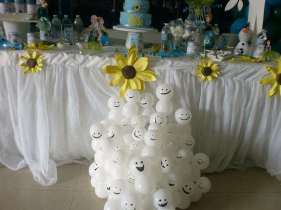 ideias decoraçao festa frozen diy