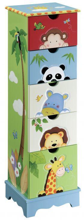 moveis de bebe pintados selva