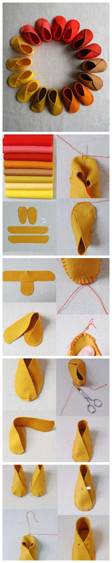 tutorial passo a passo sapatos bebe
