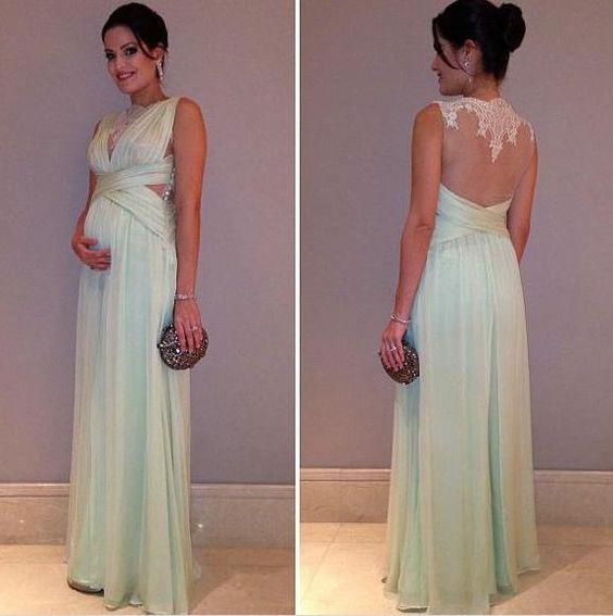 vestido madrinha gravida